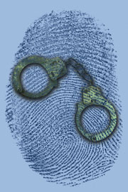 thumbprint and handcuffs